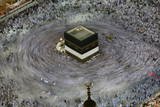 Muslim Pilgrims Perform 'Tawaaf' at the Grand Mosque in the Holy City of Mecca Fotografie-Druck von Altaf Qadri