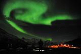 Aurora Borealis Near the City of Tromsoe in Northern Norway Fotografie-Druck von Rune Stoltz Bertinussen