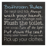 Regels voor op het toilet, Engelse tekst: Bathroom Rules Posters van Lauren Gibbons
