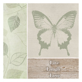 Live Laugh Love Butterfly Poster por Taylor Greene