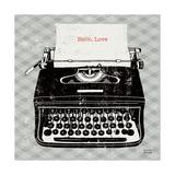 Vintage Analog Typewriter 高品質プリント : マイケル・ミューラン