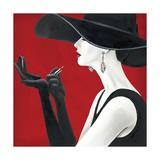 Haute Chapeau Rouge II Metalltrykk av Marco Fabiano