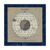 Globe Blue Premium Giclee Print by Sue Schlabach