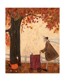 Following the Pumpkin Giclee Print by Sam Toft