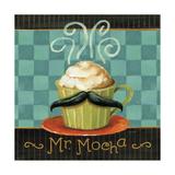 Cafe Moustache V Square Poster tekijänä Lisa Audit