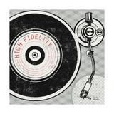 Vintage Analog Record Player Kunstdrucke von Michael Mullan