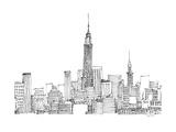 New York Skyline Crop Pósters por Avery Tillmon