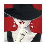 Høy hatt, rød I Metalltrykk av Marco Fabiano