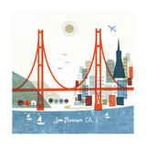Colorful San Francisco Posters av Michael Mullan