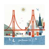 Colorful San Francisco 高画質プリント : マイケル・ミューラン