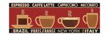 Deco Coffee Panel I Premium Giclee Print by  Pela