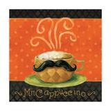 Cafe Moustache IV Square Posters tekijänä Lisa Audit