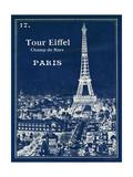 Blueprint Eiffel Tower Posters by Sue Schlabach