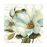 White Floral Bliss II Pôsters por Lisa Audit
