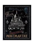 Travel to Paris III Posters av Daphne Brissonnet