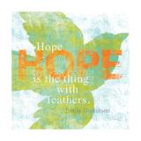Letterpress Hope Art by Sue Schlabach
