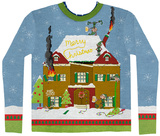 Long Sleeve: Elves Gone Wild Ugly Xmas Sweater Costume Tee Pitkähihaiset