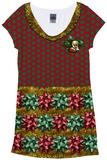 Christmas Bow Dress Vestido curto
