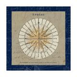Sphere Compass Blue Premium Giclee Print by Sue Schlabach