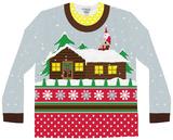 Long Sleeve: Santa on Break Ugly Xmas Sweater Mangas longas
