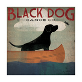 Black Dog Canoe Poster von Ryan Fowler