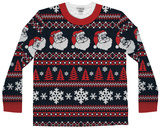 Long Sleeve: Santa Stripe Ugly Xmas Sweater Costume Tee Langärmelig