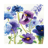 Blue and Purple Mixed Garden I Premium Giclee Print by Novak Shirley