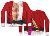 Long Sleeve: Bad Santa Costume Tee T-shirt a maniche lunghe