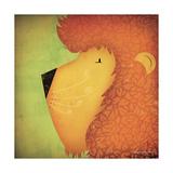 Lion Wow Premium Giclee Print by Ryan Fowler