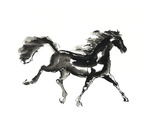 Horse H4 Premium Giclee Print by Chris Paschke