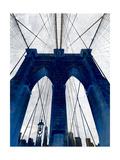 Brooklyn Bridge Blue Reproduction giclée Premium