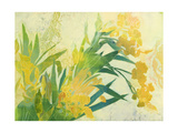 Yellow Iris 2 Premium Giclee Print by April Richardson