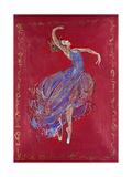 Dancer in Blue I Lámina giclée prémium por Marta Wiley