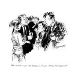 """""""We decided to just stay preppy, as though nothing had happened."""" - New Yorker Cartoon Premium Giclee Print by William Hamilton"""