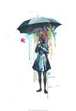 Rainy Kunstdrucke von Lora Zombie