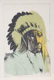 Chief American Horse - Oglalla Sioux Edizione limitata di Leonard Baskin