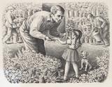 Caroselli– Blumenstand Sammlerdrucke von Lionel S. Reiss