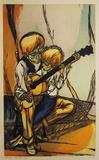 父親と息子 限定版アートプリント : Mervin Jules
