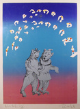 Anniversary Waltz from the Circus Suite Serigrafi (silketryk) af Robert Mumford