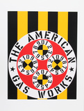 The American Gas Works (from the American Dream Portfolio) Serigrafi (silketryk) af Robert Indiana