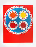 God is Lily of the Vallery (from the American Dream Portfolio) Serigrafi (silketryk) af Robert Indiana