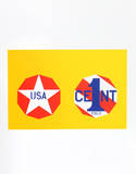 The New Glory Penny (from the American Dream Portfolio) Serigrafi (silketryk) af Robert Indiana