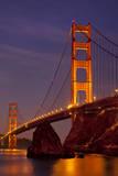 Morning below the Golden Gate Bridge from Sausalito, California, USA Fotografisk trykk av Brian Jannsen
