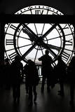 Europe, France, Paris. Clock and silhouettes at Musee D'Orsay. Reproduction photographique par Kymri Wilt
