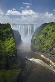 Victoria Falls and Zambezi River, Zimbabwe/Zambia border, Africa Fotografisk tryk af David Wall