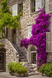 Front entrance of a house in St. Paul de-Vence, France. Trykk på strukket lerret av Brian Jannsen