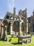 Melrose Abbey in the Scottish Borders. Fotografisk trykk av Martin Zwick