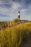 Big Sable Point Lighthouse on Lake Michigan, Ludington SP, Michigan Stampa fotografica di Chuck Haney