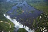 Victoria Falls and Zambezi River, Zimbabwe/Zambia border Fotografisk tryk af David Wall