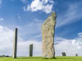 Standing Stones of Stenness, Orkney islands, Scotland. Fotografisk trykk av Martin Zwick